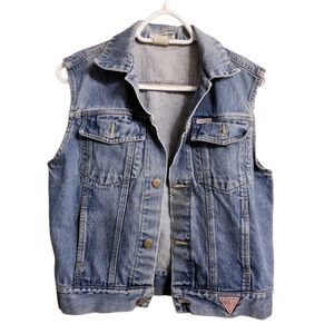 Vintage 80's Georges Marciano by Guess Denim Vest